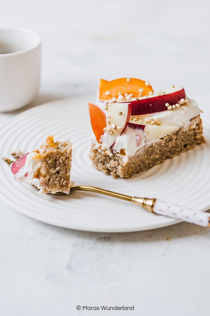 Veganer Aprikosen-Haferflocken. Glutenfrei und gesund. Fruchtig und cremig. Einfach und schnell gemacht. • Maras Wunderland
