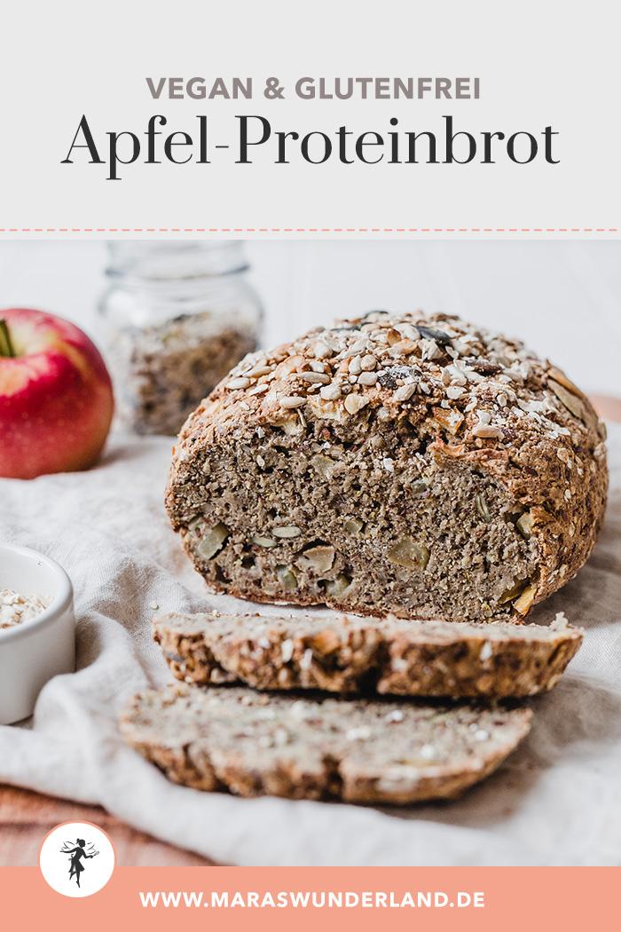 Veganes & glutenfreies Apfel-Proteinbrot. Schnell gemacht, innen saftig und außen knusprig. • Maras Wunderland