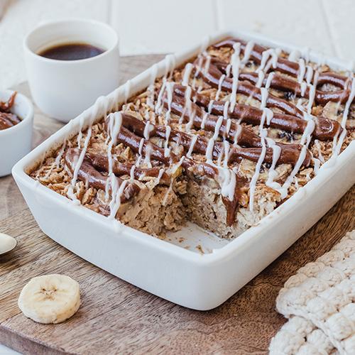Veganes Cinnamon Baked Oatmeal
